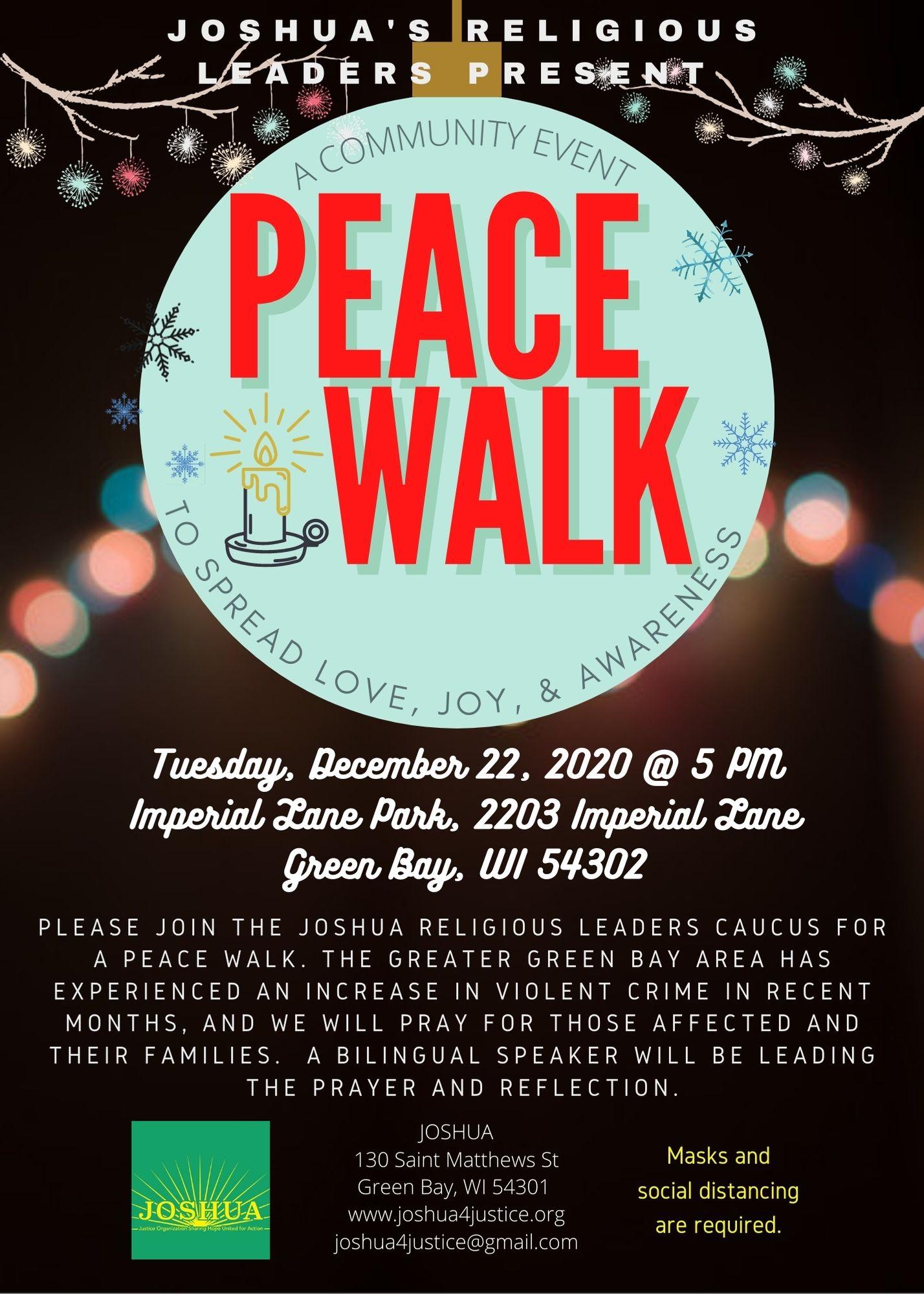 Peace Walk Event